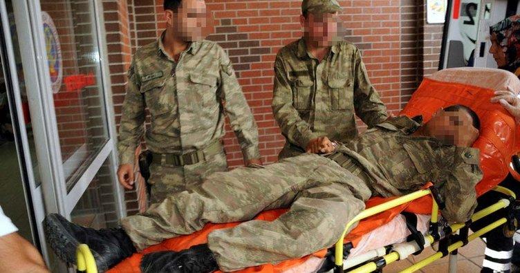 Yıldırım düştü: 5 asker yaralandı