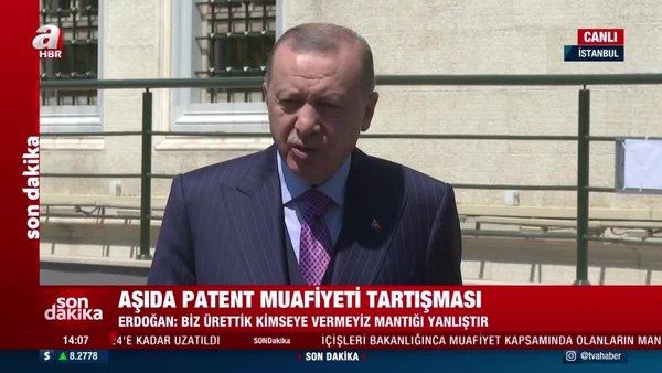 SON DAKİKA: Cumhurbaşkanı Erdoğan'dan Cuma namazı çıkışında önemli açıklamalar