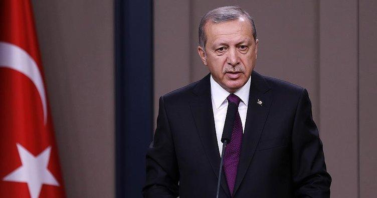 Cumhurbaşkanı Erdoğan'dan, helikopter kazası şehitleri için taziye mesajı