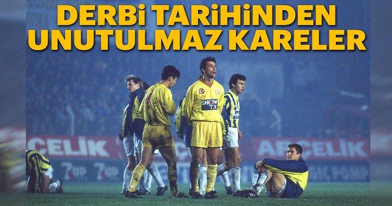 Fenerbahçe - Galatasaray derbi tarihinden unutulmaz kareler