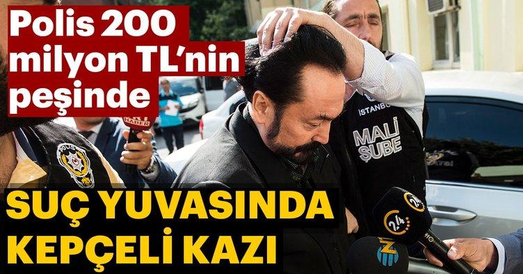 Adnan Oktar'ın suç yuvasında kepçeli kazı! Polis 200 milyon TL'nin peşinde