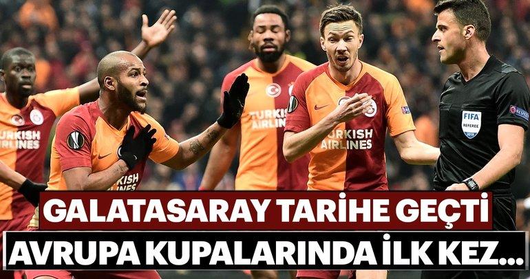 Galatasaray tarihe geçti! Avrupa kupalarında ilk kez...