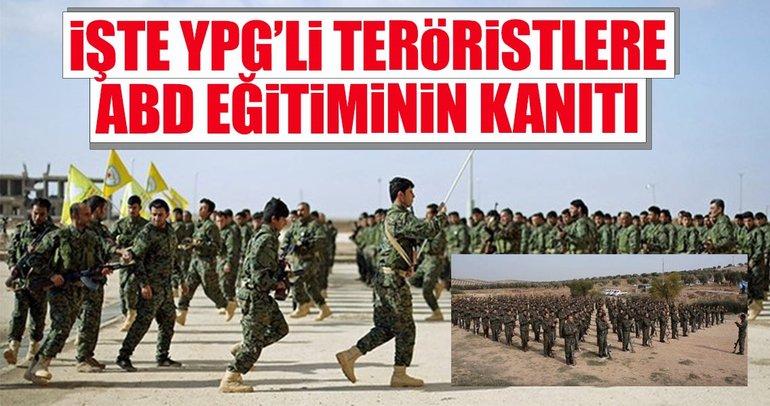 İşte YPG'li teröristlere ABD eğitiminin kanıtı