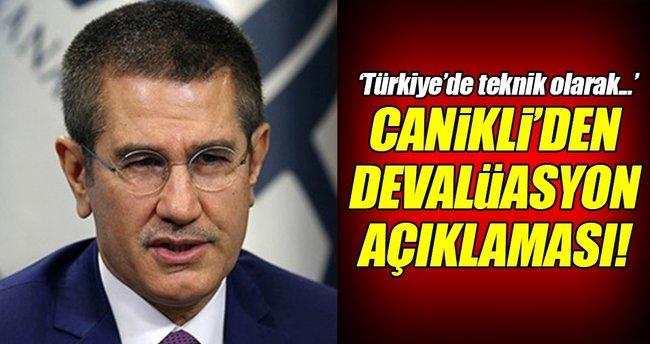 Canikli'den devalüasyon açıklaması!