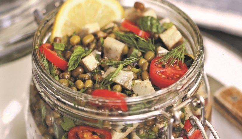 Enginarlı Maş Fasulyesi Salatası