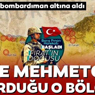İşte TSK'nın Barış Pınarı Harekatı kapsamında vurduğu o bölgeler!