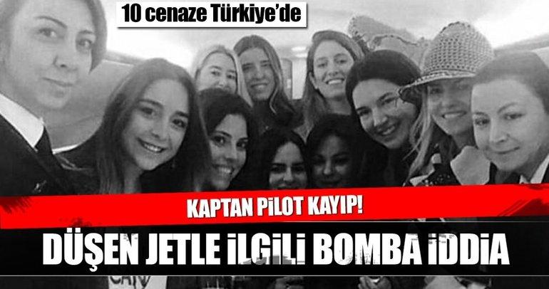 Düşen özel uçağın kaptanı Beril Gebeş'in cenazesi bulunamadı