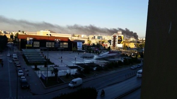 Adana Valiliği önündeki patlamadan fotoğraflar