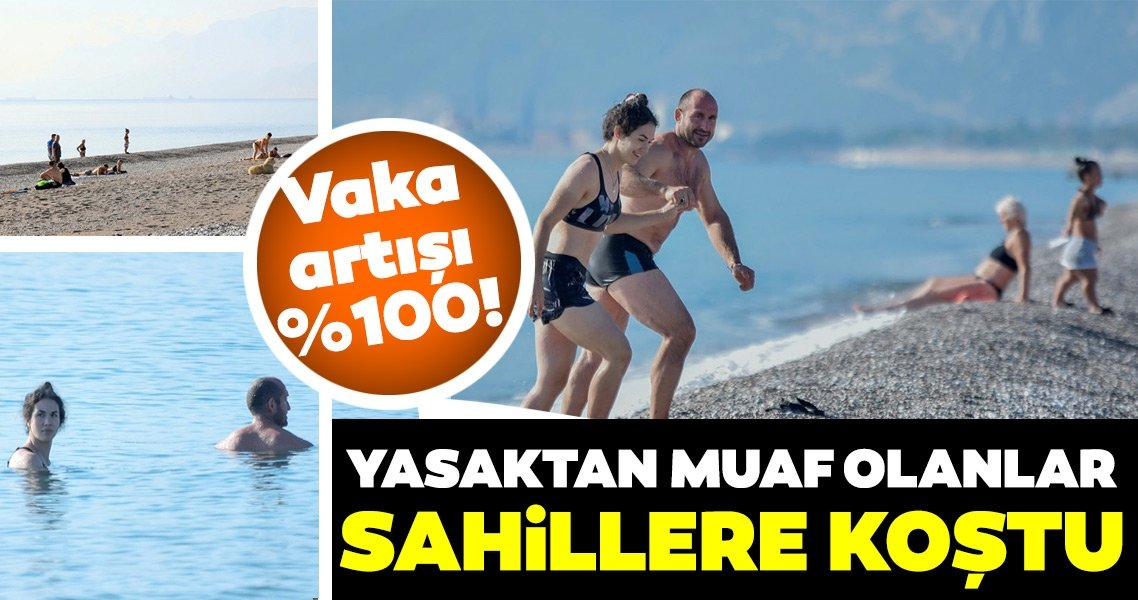 Bakan Koca vaka artışı yüzde 100 demişti! Antalya'da yasaktan muaf olanlar sahil ve plajlara koştu