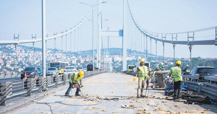 Köprü'de çalışmalar 25 Ağustos'ta bitecek