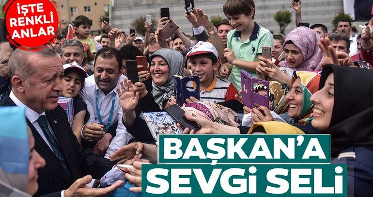 Başkan Erdoğan'a Bahçelievler'de büyük sevgi seli