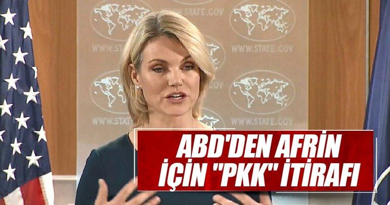 ABD'den Afrin için PKK itirafı