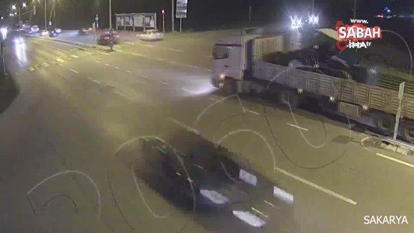Tırla otomobil böyle çarpıştı | Video