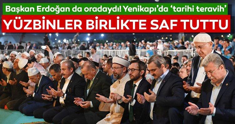 Yenikapı'da Cumhurbaşkanı Erdoğan'ın katılımıyla  'Enderun Teravihi'