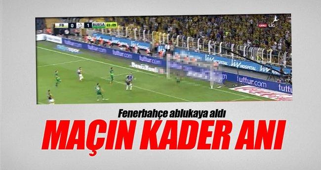 Bursasporlu futbolcu maçın kaderini değiştirdi