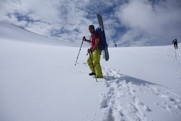 Mayıs ayında kayak keyfi
