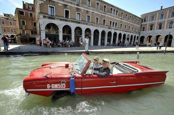 Yüzergezer otomobil!