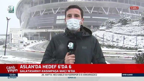 Son dakika! Galatasaray Kasımpaşa maçı ertelenecek mi? İşte Türk Telekom Stadyumunda son durum   Video