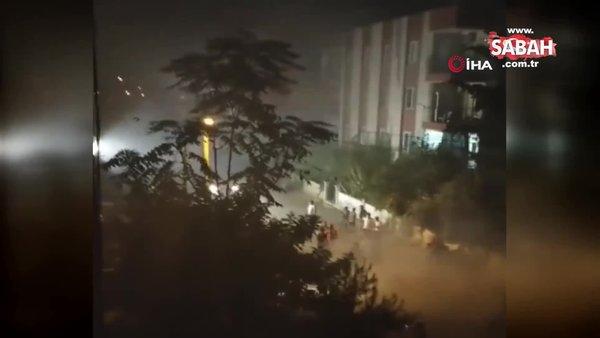 Asker uğurlamasına tepki gösterenlere öfkelenip, ortalığı tozu dumana kattılar   Video