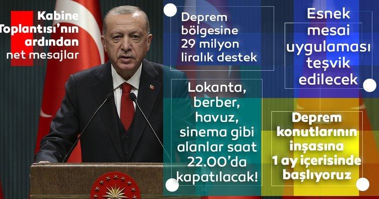 SON DAKİKA | Başkan Recep Tayyip Erdoğan açıkladı! İşte koronavirüs için uygulanacak yeni tedbirler!