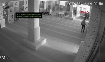 Camiden hırsızlık anı güvenlik kamerasında