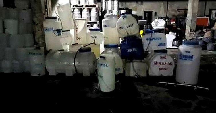 Küçükçekmece'de 1 milyon 200 bin TL'lik sahte içki ele geçirildi