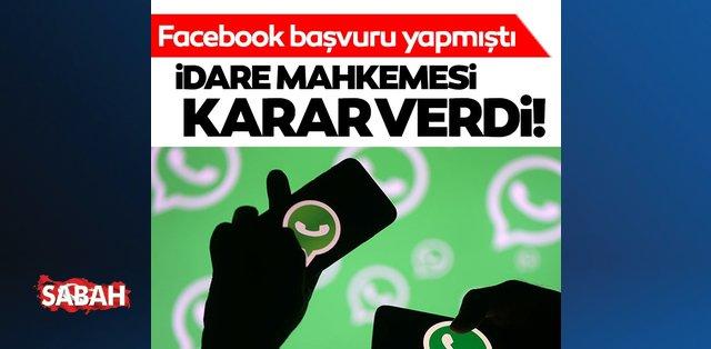 Yargı, WhatsApp kararına yeşil ışık yaktı!