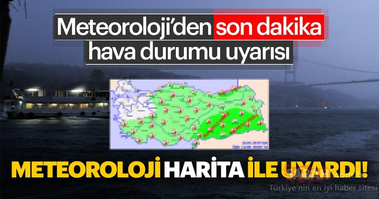 Dikkat! Bu iller için Meteoroloji'den son dakika hava durumu ve sağanak yağış uyarısı yapıldı… Bugün hava nasıl olacak? 16 Nisan