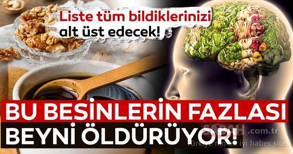 Sağlıklı diye fazla tüketiyoruz ama bu besinler hafızayı zayıflatıyor! İşte beyni hasta eden besinler listesi...