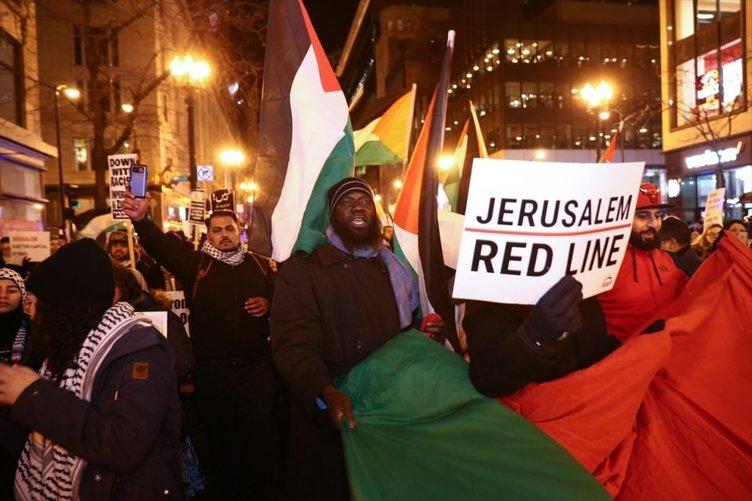 ABD sokaklarında 'Kudüs' sesleri