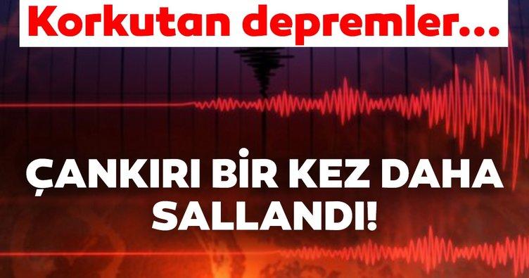 Son Dakika Haberi: Çankırı'da peş peşe korkutan depremler!