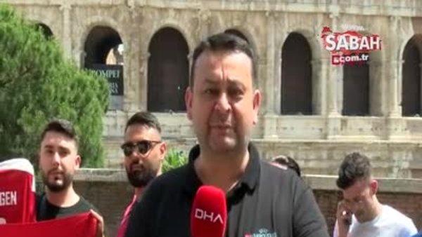Gurbetçi taraftarlar Roma sokaklarını Türkiye tezahüratlarıyla inletti! | Video