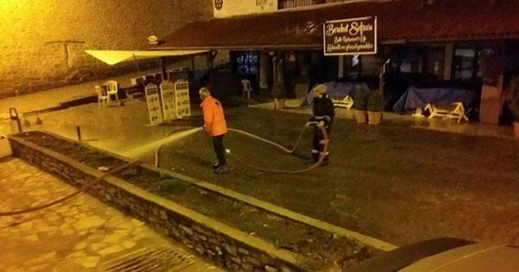 Safranbolu tarihi çarşıda temizlik