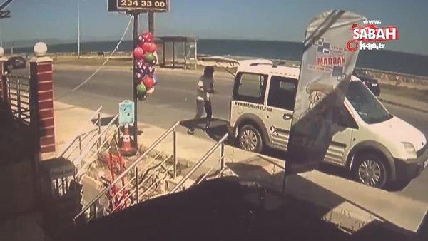 İzmir'de ölüm dehşetine şahit olan vatandaşın yaşadığı şok kamerada | Video