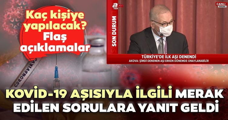 Türkiye'de ilk koronavirüs aşısı yapıldı! Koronavirüs aşısıyla ilgili merak edilen sorulara yanıt geldi
