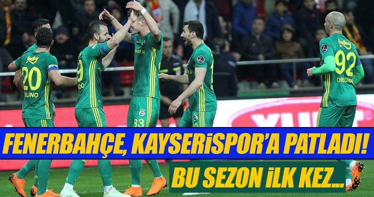 Fenerbahçe, Kayserispor'a patladı