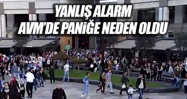 AVM'de yanlış alarm panik oluşturdu