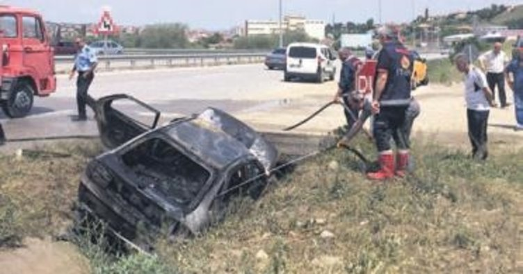 LPG'li araç alev aldı, anne ve 3 çocuğu öldü
