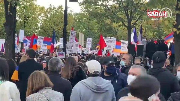 Paris'te terör örgütü PKK'nın katılımıyla Ermenistan'a destek gösterisi | Video