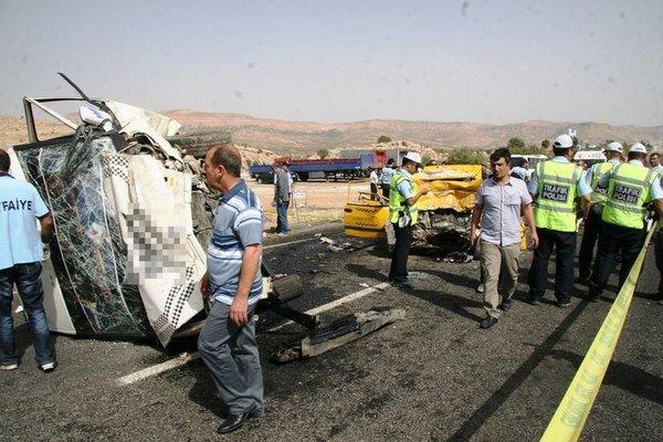 Mardin'de katliam gibi kaza