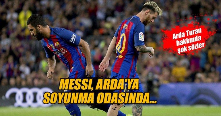 Messi, Arda'ya soyunma odasında...