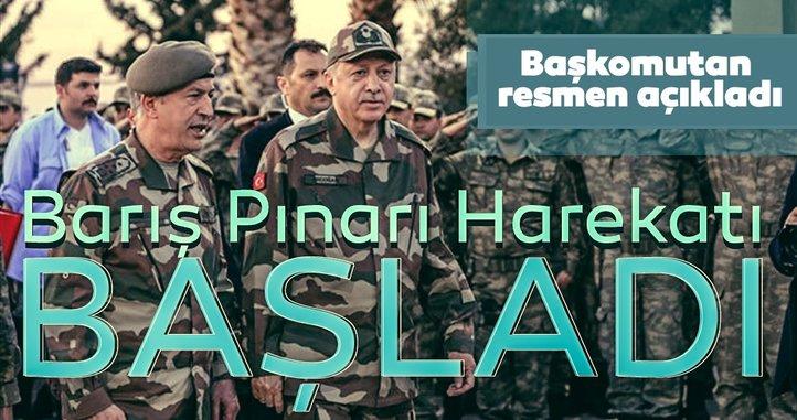Son Dakika | Başkan Erdoğan açıkladı: Barış Pınarı harekatı resmen başladı!
