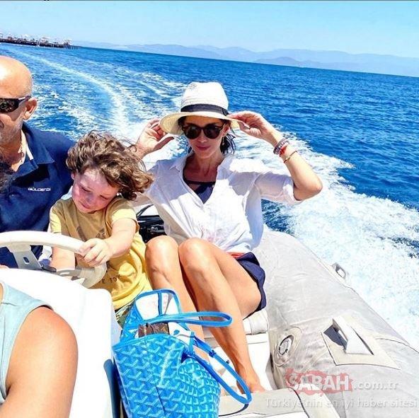 46 yaşındaki Hande Ataizi genç kızlara taş çıkarttı! Teknede bile boş durmadı