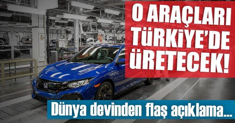 Honda'dan Türkiye müjdesi!
