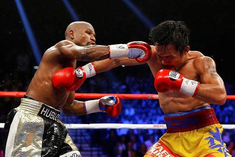 Asrın boks maçında Mayweather, Pacquiao'yu yendi