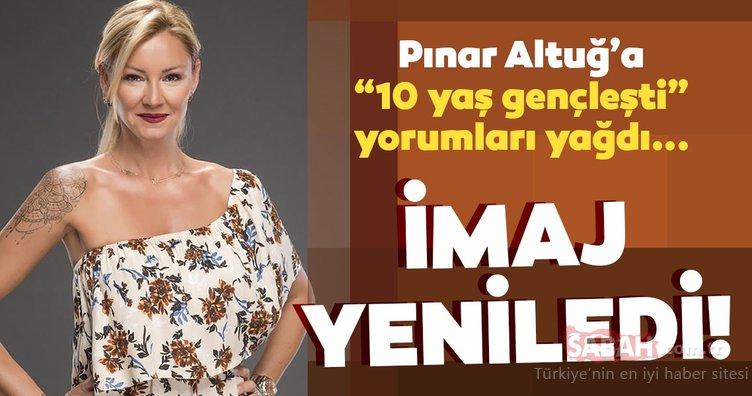 Pınar Altuğ'u 10 yaş gençleştiren yeni imajı çok beğenildi! Yıllar öncesine dönen Pınar Altuğ hayranlarından tam not aldı!