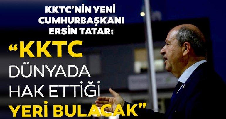 Son dakika: KKTC'nin yeni Cumhurbaşkanı Ersin Tatar'dan canlı yayında önemli açıklamalar