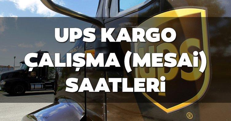 UPS Kargo saat kaçta açılıyor, kaçta kapanıyor? Cumartesi ve Pazar açık mı? 2019 UPS kargo çalışma saatleri