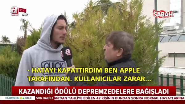 Apple'ın açığını bulan genç, ödülünü depremzedelere bağışladı | Video