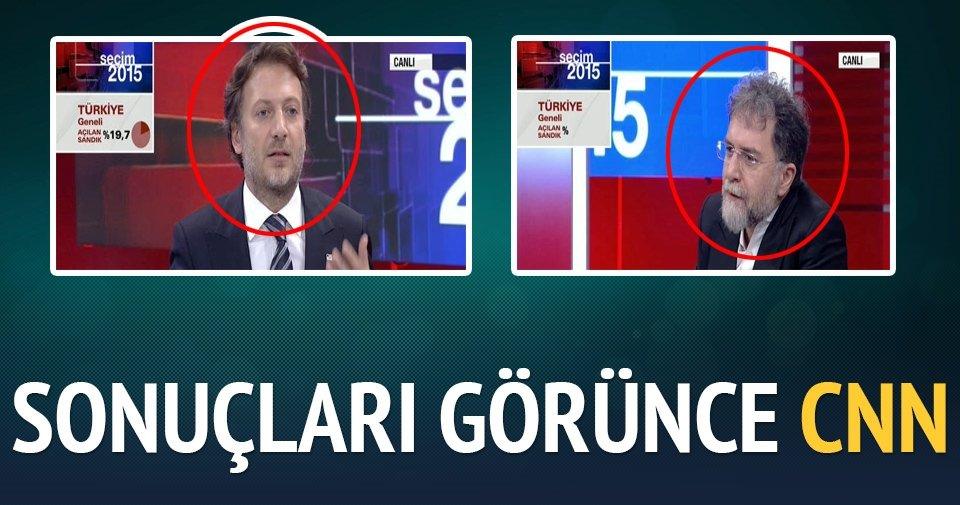 İlk sonuçlar gelince CNN Türk'te yüzler düştü